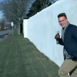 George Soros has massive wall around his home