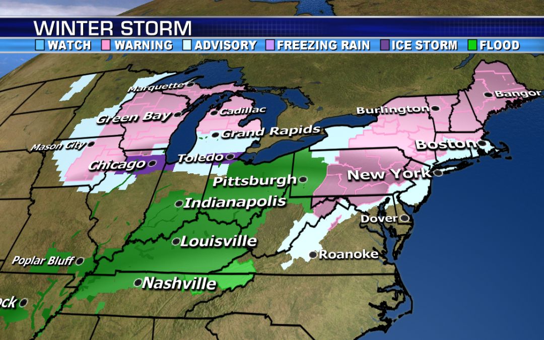 Winter storm brings heavy snow, significant ice and heavy rain