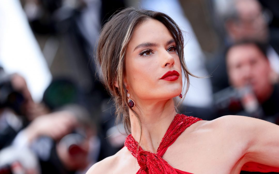 Alessandra Ambrosio stuns at Cannes Film Festival in red dress with thigh-high slit