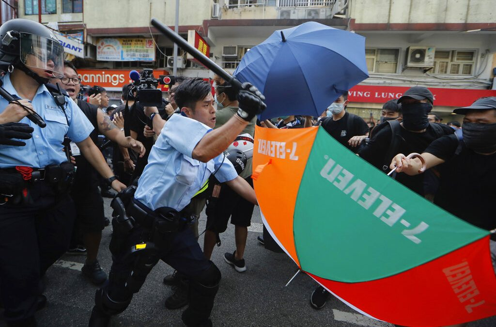 Anti-Chinese protests in Hong Kong turn violent