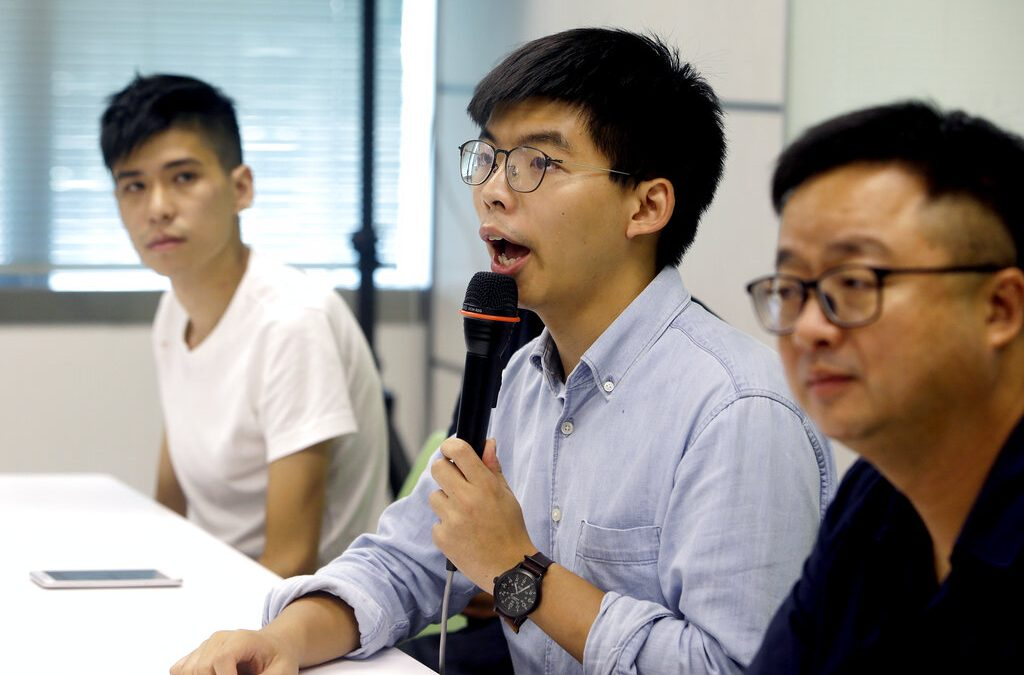 Hong Kong protest leader released from custody after being arrested at international airport