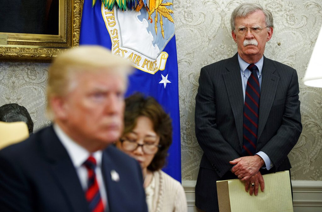 National Security Adviser John Bolton is out
