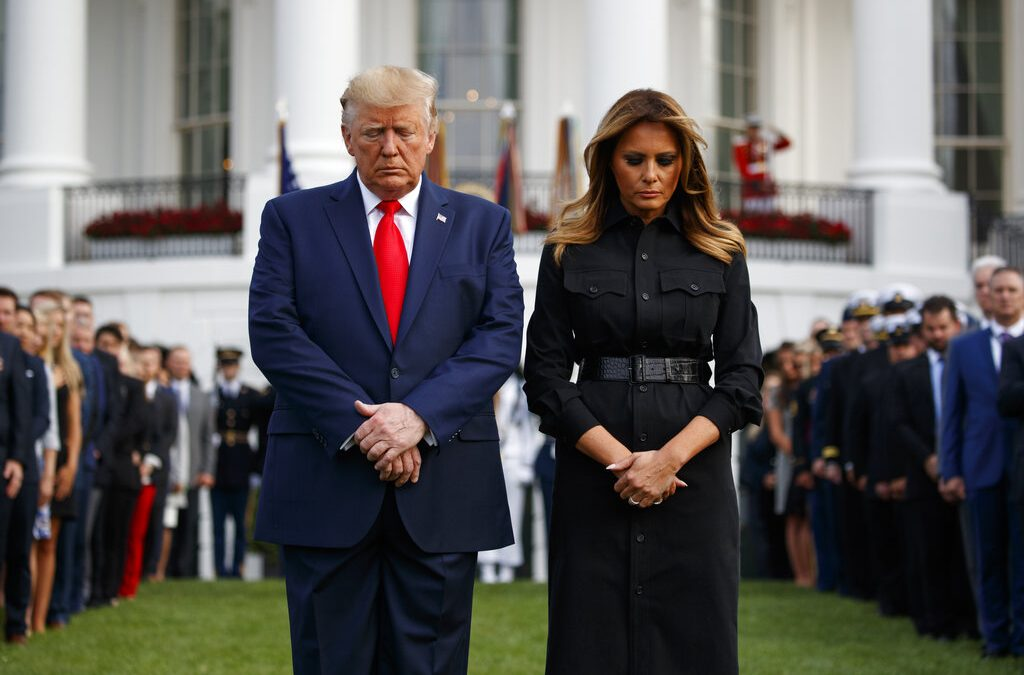 President Trump, First Lady hold moment of silence in remembrance of 9/11