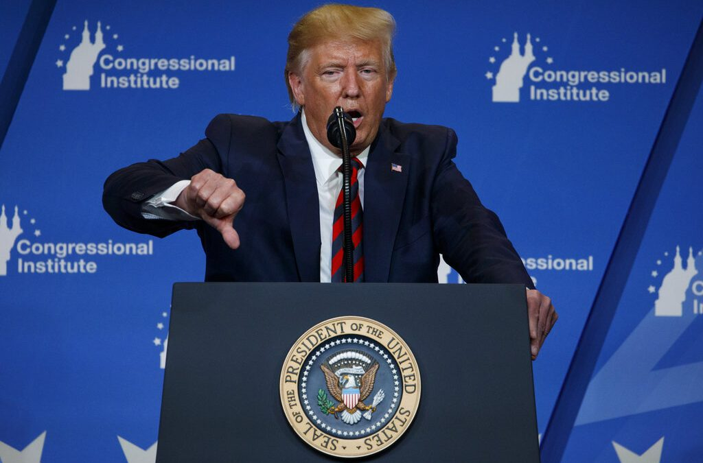President Trump condemns Democrat efforts toward impeachment, mainstream media
