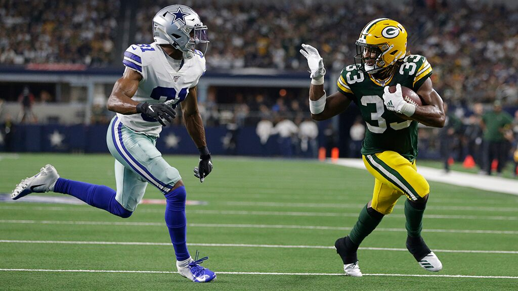 Green Bay Packers' Aaron Jones' waved 'bye-bye' to Dallas defense and $10G fine: It's a 'dope picture'