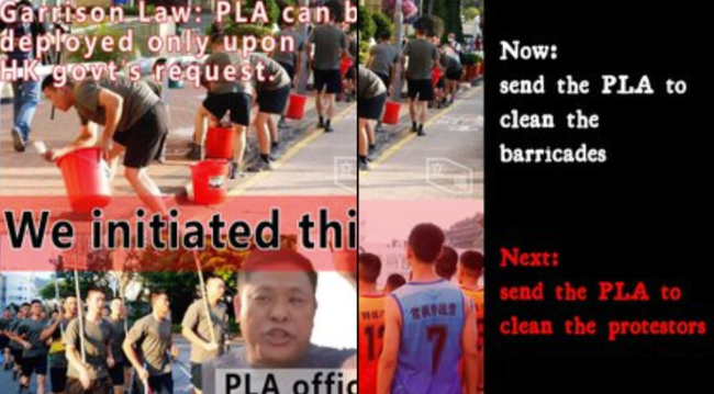 """Chinese Soldiers Deployed Onto Street Of Hong Kong To """"Help Clean Up"""""""