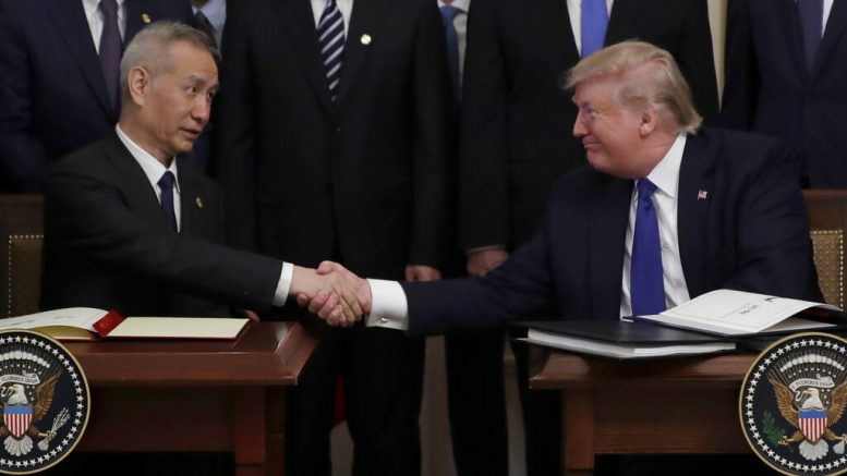 President Trump, Chinese Vice Premier sign 'phase one' trade deal at the White House