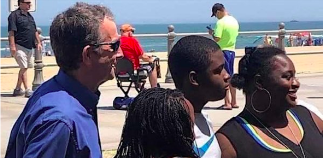 Mask-pushing governor caught at beach without face mask