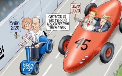 A Close Race – A.F. Branco Cartoon