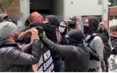 Antifa leader threatens 'armed' action against Trump supporters