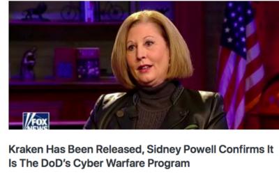 SIDNEY POWELL releases the 'Kraken' – Dept of Defense's Cyber Warfare Program