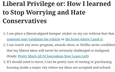 Daily Effects of Liberal Privilege