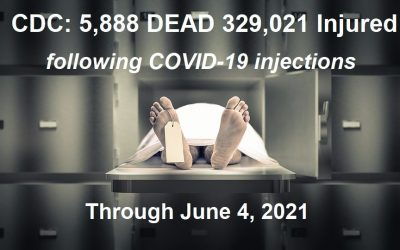 5,888 DEAD 329,021 Injuries from COVID-19 Shots – More than Previous 29 Years of VAERS Vaccine Deaths